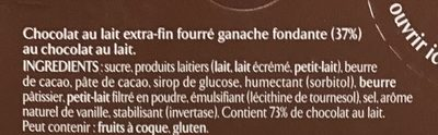 Ganache chocolat au lait - Ingrédients