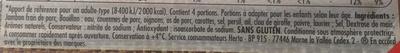 Le Bon Paris, à l'étouffée au Bouillon de Légumes - Ingrédients