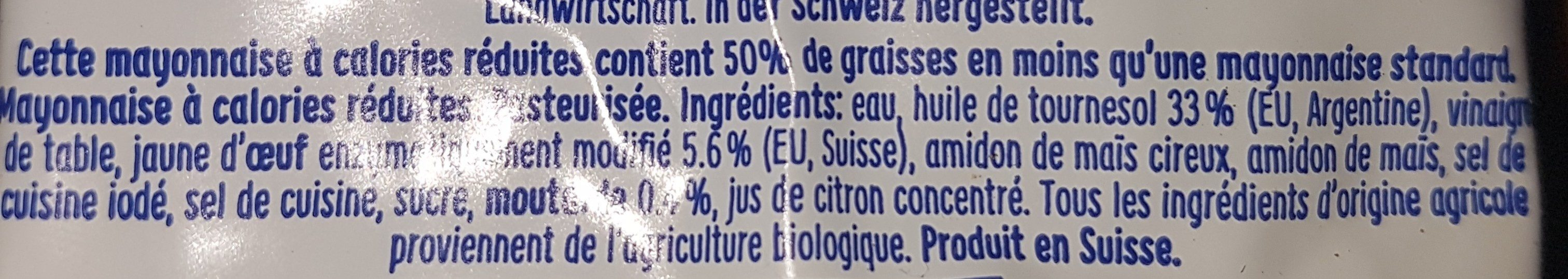 Bio Mayo - Ingredients