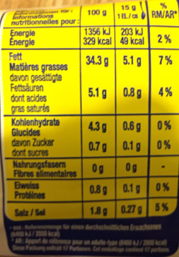 Bio Mayo - Nutrition facts