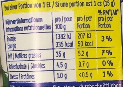 Bio Mayo - Informations nutritionnelles - fr