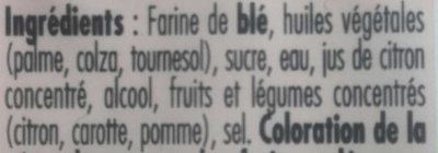 TRESOR DE GRAND MERE Pâte sablée - Ingredients - fr