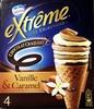Cône Vanille & Caramel - Chocolat Craquant - Extrême Les Sélections -