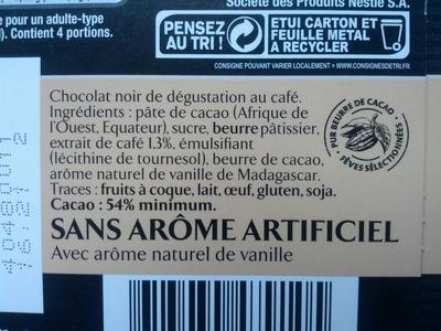 Espresso Noir - Ingrédients - fr