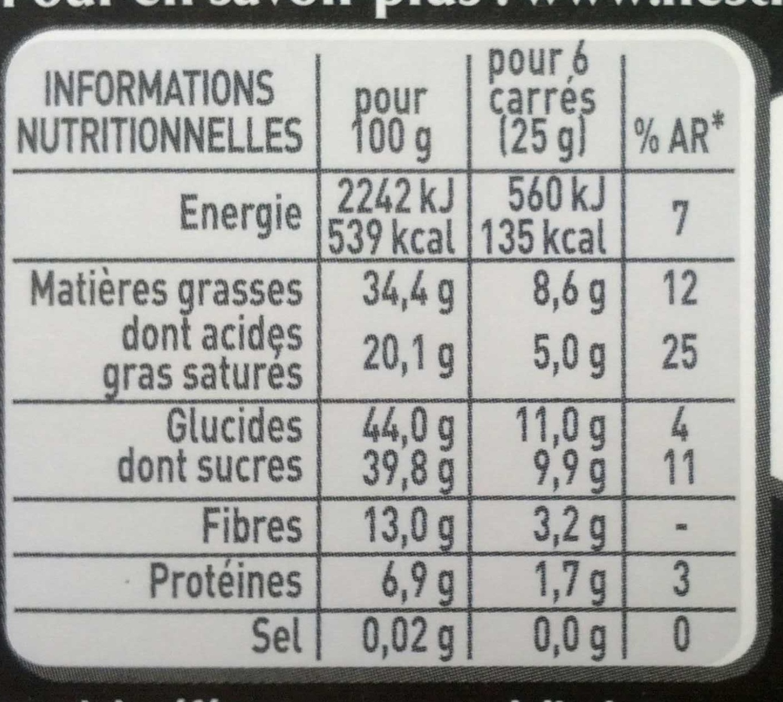 Espresso Noir - Informations nutritionnelles - fr