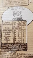 NESTLE DESSERT Chocolat Noir - Nutrition facts - fr