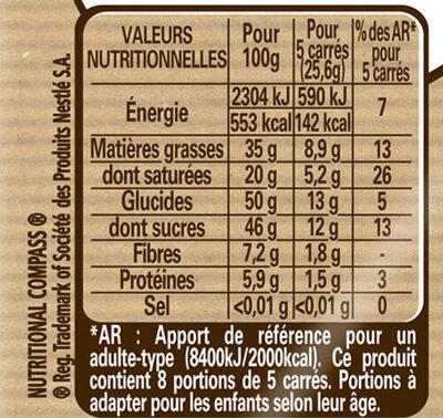 NESTLE DESSERT Noir 2X205g - Nutrition facts - fr
