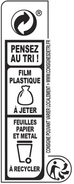NESTLE DESSERT Noir 2X205g - Recycling instructions and/or packaging information - fr