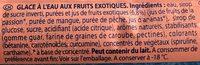 Pirulo Tropical - Ingredientes