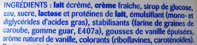 Crème Glacée Vanille, Points de gousse - Ingrédients - fr