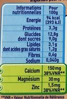 P'tit Gourmand Biscuit - Valori nutrizionali - fr
