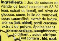 Cœur de bouillon - Ingredients