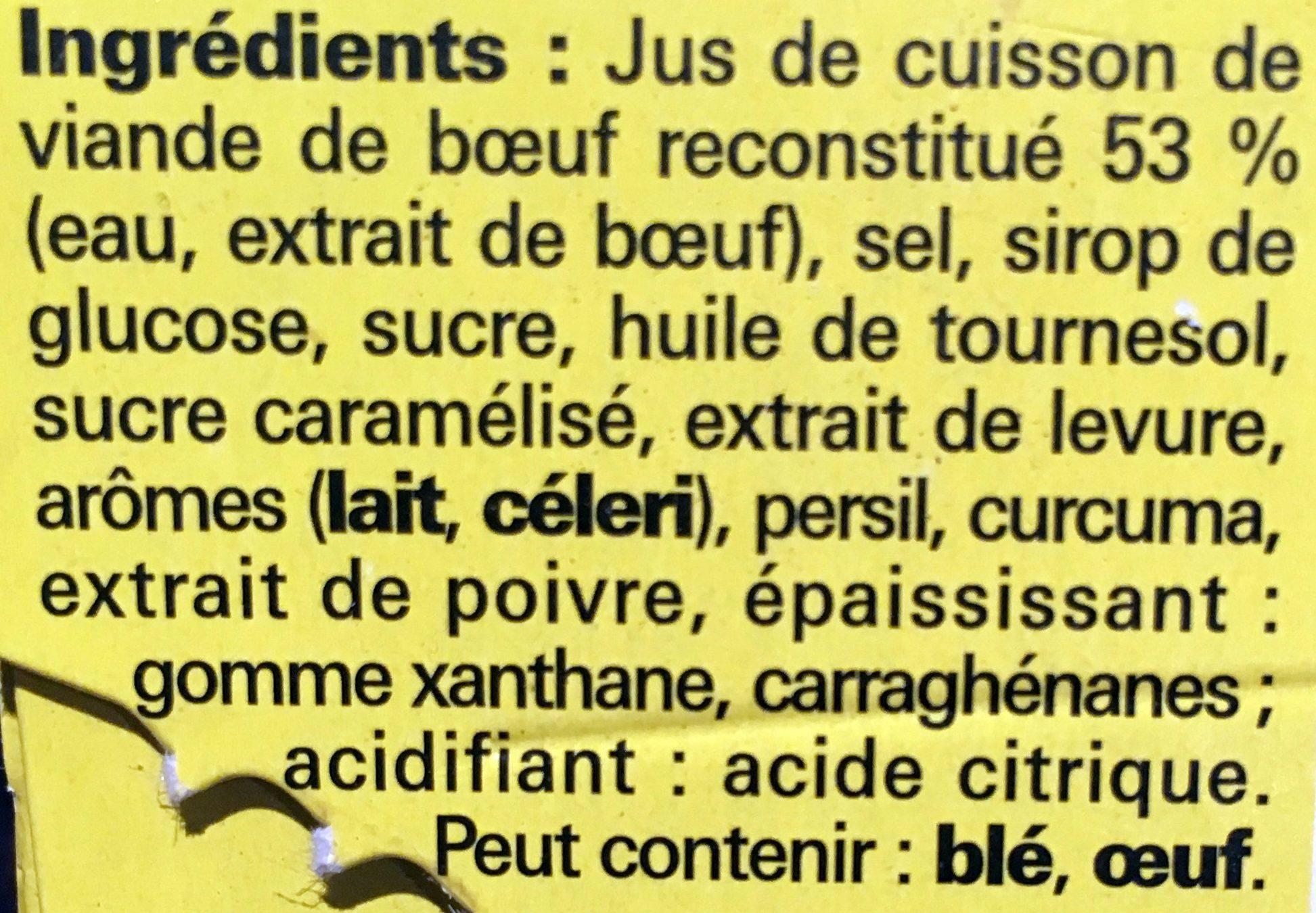 Cœur de bouillon - Ingrediënten
