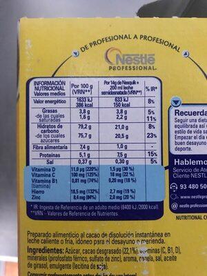 Nesquik - Información nutricional