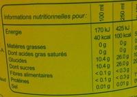 Romanette Arôme citron - Voedigswaarden