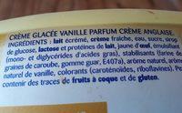 Crème glacée la laitière vanille façon crème anglaise - Ingrédients