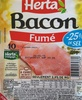 Bacon fumé - 25% de sel -