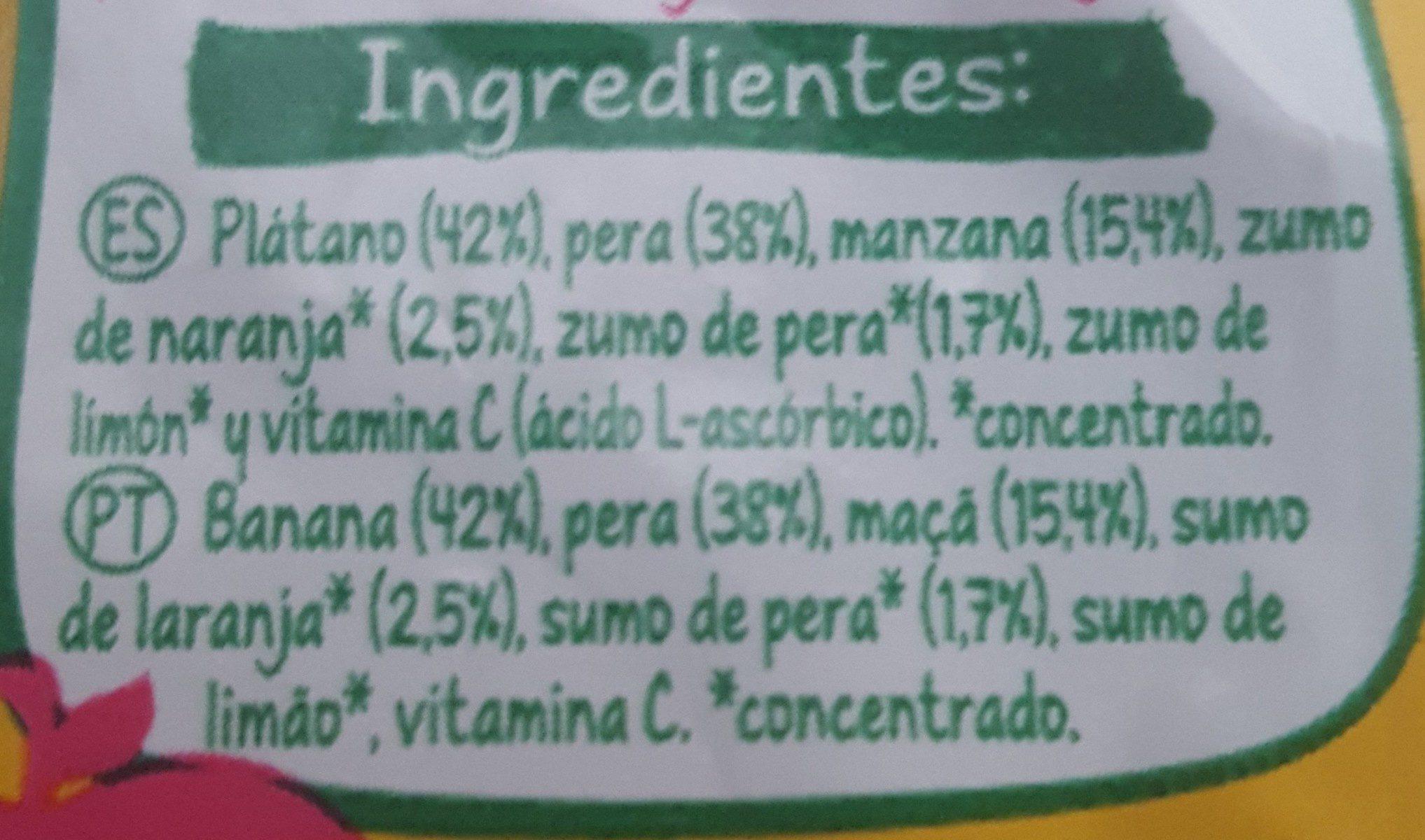 4 frutas - Ingredienti - fr