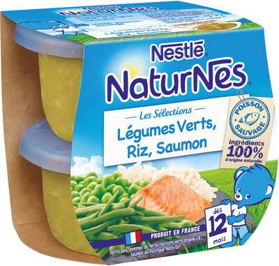 NESTLE NATURNES Les Sélections Petits Pots Bébé Légumes Verts, Riz, Saumon -2x200g -Dès 12 mois - Prodotto - fr