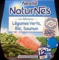 NaturNes Légumes Verts, Riz, Saumon - Produit