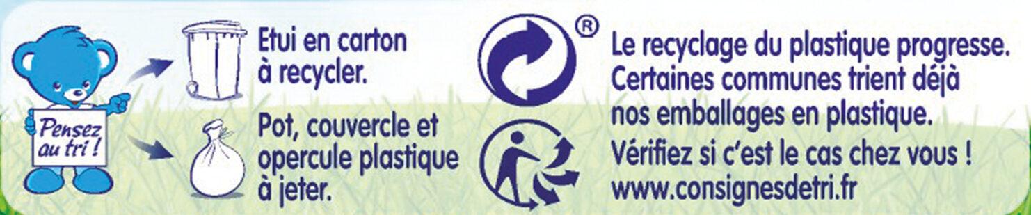 NESTLE NATURNES Les Sélections Petits Pots Bébé Légumes Verts, Riz, Saumon -2x200g -Dès 12 mois - Instruction de recyclage et/ou informations d'emballage - fr