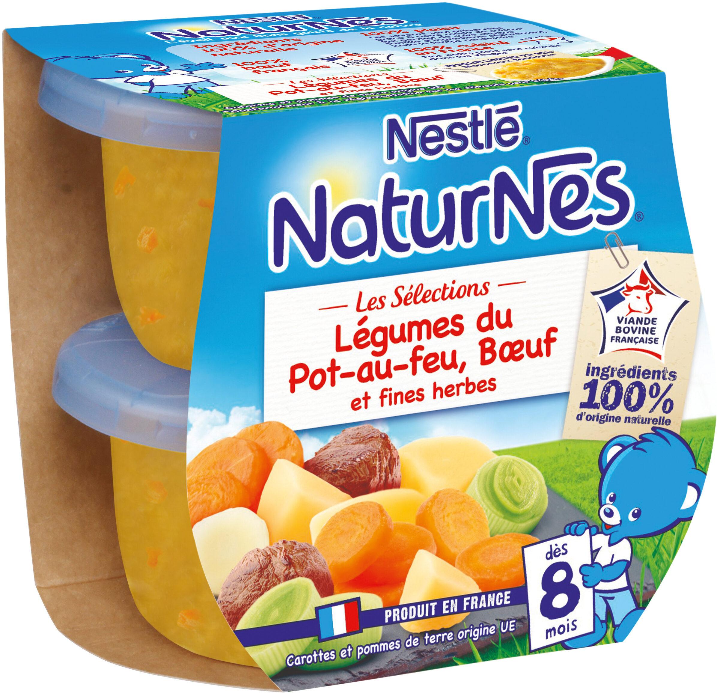 NESTLE NATURNES Les Sélections Légumes du pot-au-feu Bœuf 2x200g -Dès 8 mois - Produit - fr
