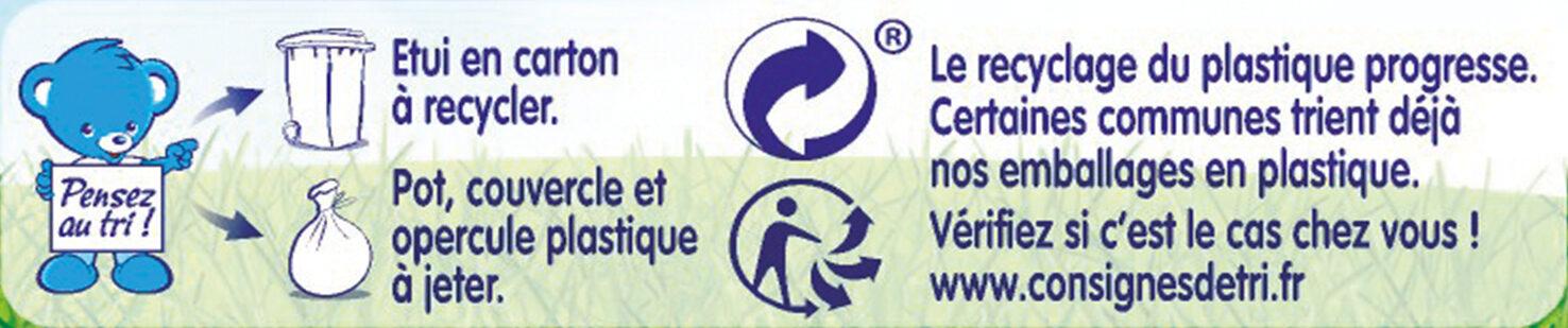 NESTLE NATURNES Les Sélections Légumes du pot-au-feu Bœuf 2x200g -Dès 8 mois - Instruction de recyclage et/ou informations d'emballage - fr