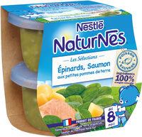 NESTLE NATURNES Les Sélections Petits Pots Bébé Epinards, Saumon aux petites pommes de terres -2x200g -Dès 8 mois - Prodotto - fr