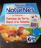 NESTLE NATURNES Les Sélections Petits Pots Bébé Pommes de terre, Bœuf à la tomate -2x200g -Dès 6 mois - Product