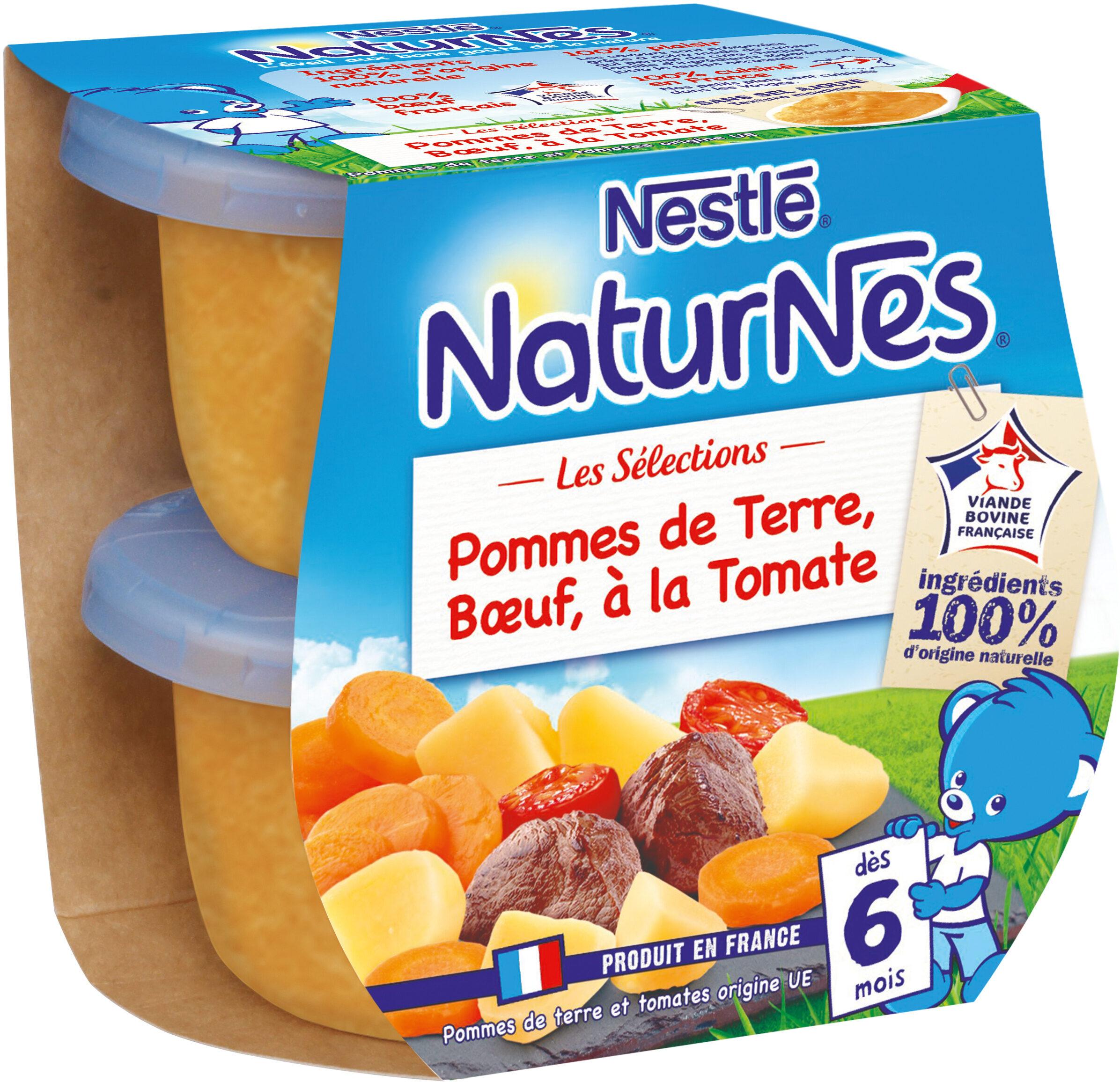 NESTLE NATURNES Les Sélections Petits Pots Bébé Pommes de terre, Bœuf à la tomate -2x200g -Dès 6 mois - Prodotto - fr