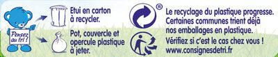 NESTLE NATURNES Les Sélections Petits Pots Bébé Pommes de terre, Bœuf à la tomate -2x200g -Dès 6 mois - Istruzioni per il riciclaggio e/o informazioni sull'imballaggio