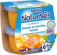 NESTLE NATURNES Les Sélections Petits Pots Bébé Douceur de carottes, Saumon -2x200g -Dès 6 mois - Prodotto - fr