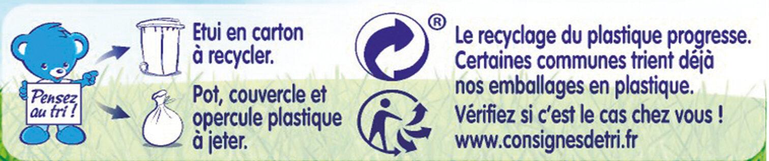 NESTLE NATURNES Les Sélections Petits Pots Bébé Douceur de carottes, Saumon -2x200g -Dès 6 mois - Istruzioni per il riciclaggio e/o informazioni sull'imballaggio - fr