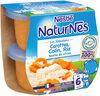 NESTLE NATURNES Les Sélections Petits Pots Bébé Carottes, Merlu blanc, Riz touche de citron -2x200g -Dès 6 mois - Produto