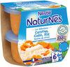 NESTLE NATURNES Les Sélections Petits Pots Bébé Carottes, Merlu blanc, Riz touche de citron -2x200g -Dès 6 mois - Prodotto