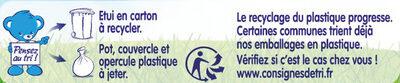 NESTLE NATURNES Les Sélections Petits Pots Bébé Carottes, Merlu blanc, Riz touche de citron -2x200g -Dès 6 mois - Istruzioni per il riciclaggio e/o informazioni sull'imballaggio - fr