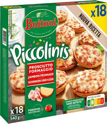BUITONI PICCOLINIS mini-pizzas surgelées Jambon Fromage 18x30g ( - Produit - fr