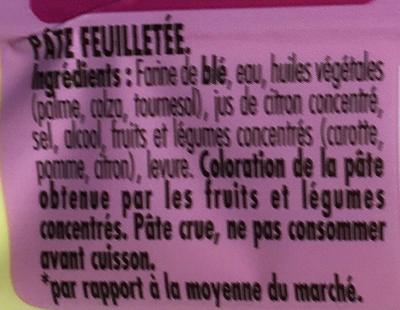 Tarte en Or feuilletée -30% de Mat. Gr. - Ingrediënten