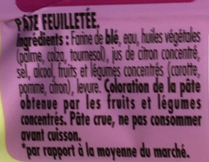 Tarte en Or feuilletée -30% de Mat. Gr. - Ingrédients