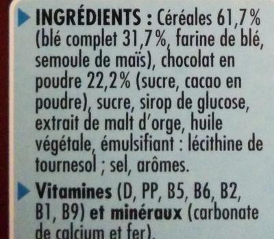 Céréales chocapic - Ingredients