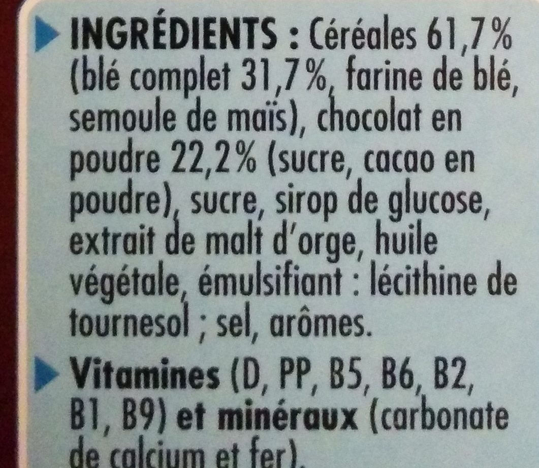 - Ingredienti