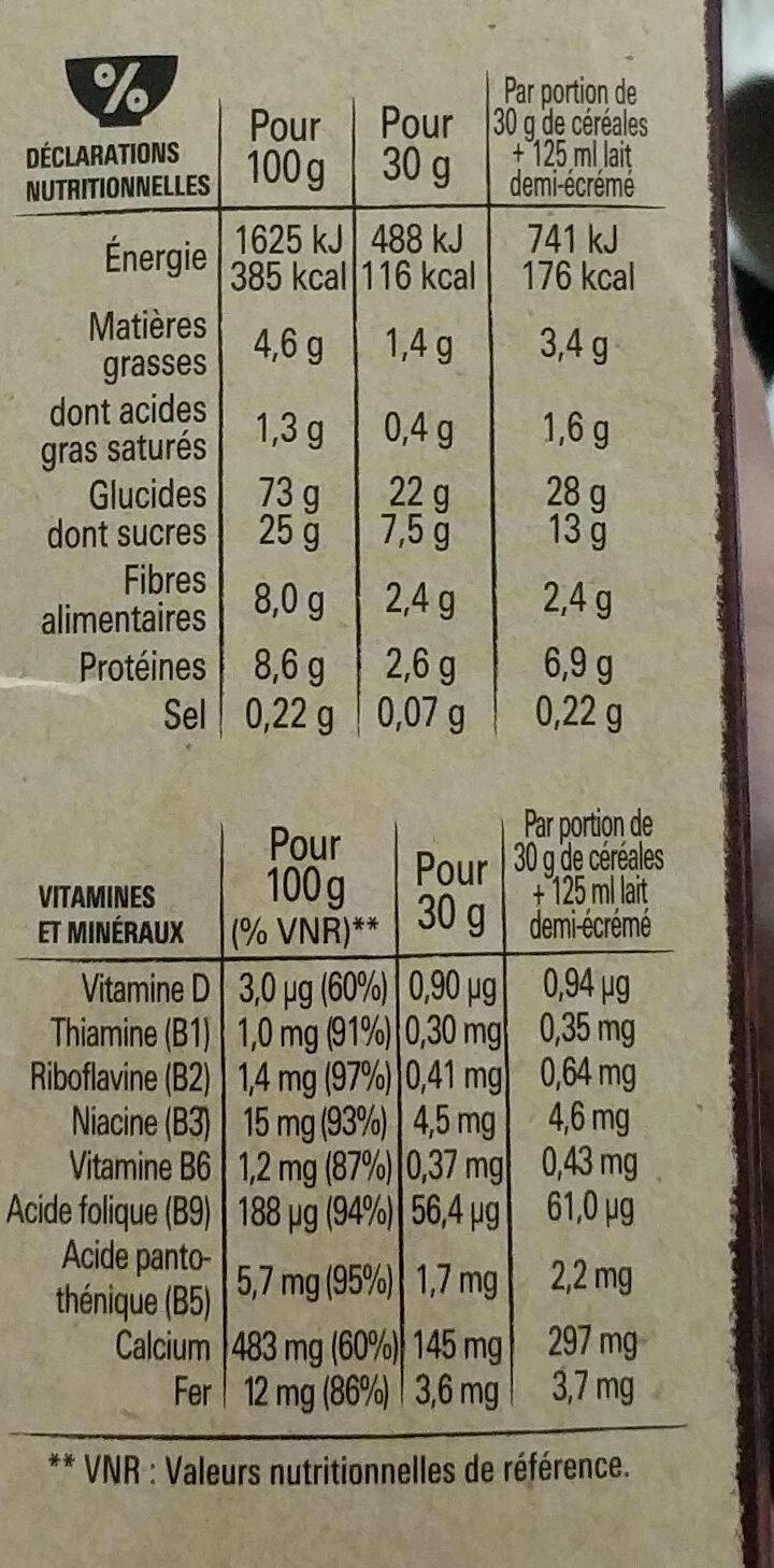 NESTLE CHOCAPIC Céréales Petit Déjeuner - Nutrition facts - en