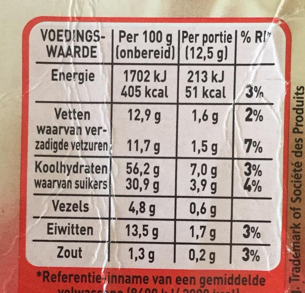Cappuccino - Voedingswaarden - nl