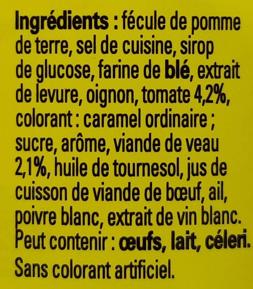 Fond de Veau - Ingrediënten - fr
