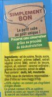 Kub Or dégraissé - Ingredients
