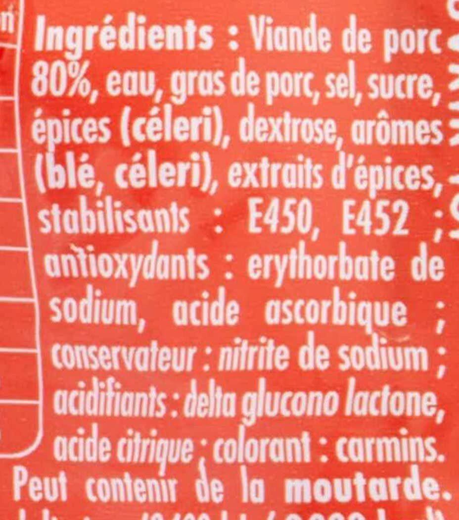 Cervelas qualité supérieure - Ingrédients - fr