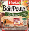 Le Bon Poulet Filet Nature (4 tranches) - Product
