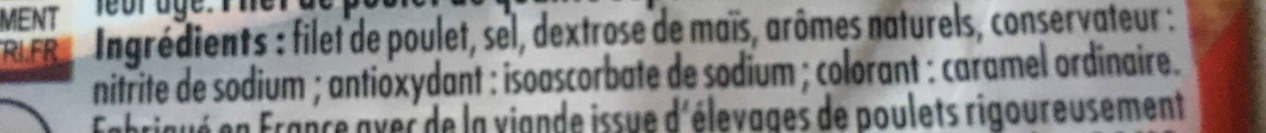 Le Bon Poulet Filet Nature (4 tranches) - Ingredients