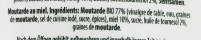 Moutarde miel - Ingredients - fr