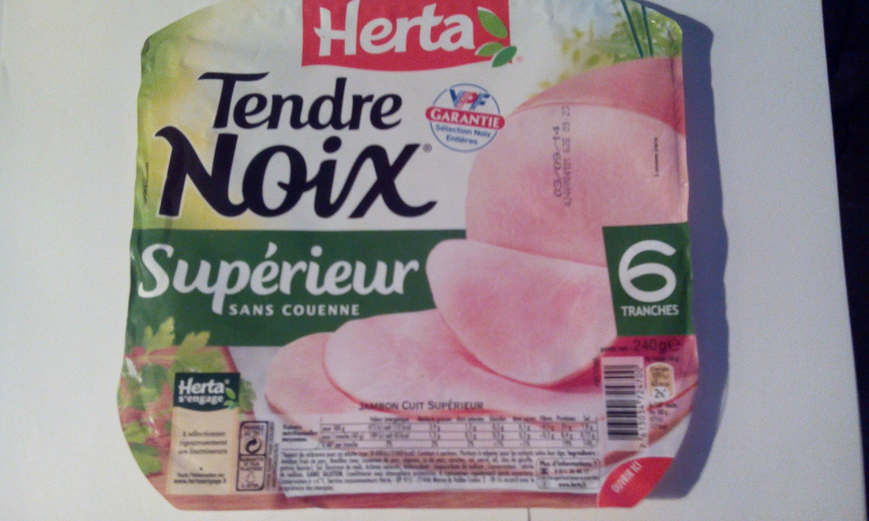Tendre Noix, Supérieur Sans Couenne (6 Tranches) - Produit - fr